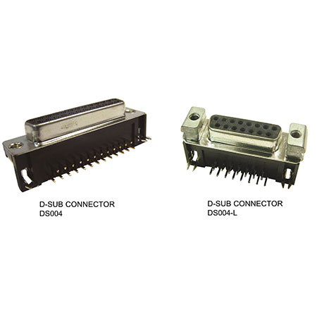 Right Angle D Sub Connector - DS004-XXXX / DS004L-XXXX