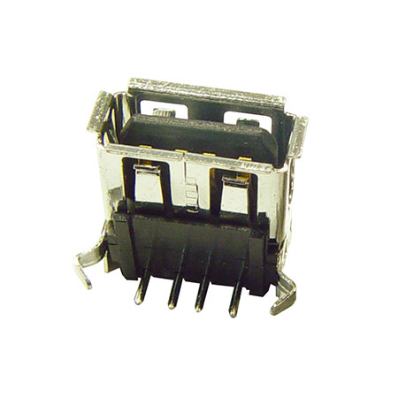 Conector USB De Ángulo Recto - U560A-04S10-XXX - RIGHT ANGLE / FEMALE/ A TYPE